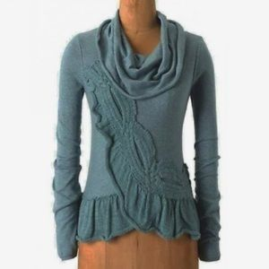 """ANTHROPOLOGIE """"Switching Sides"""" Cowl-neck Sweater"""